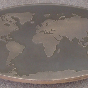 World Map Patina (2) E